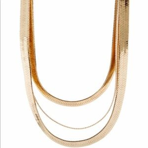 3-Tier Gold Snake Chain Necklace